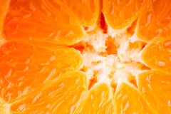 Close up on an orange. For background or texture Stock Photo