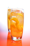 Close up of orange drink Royalty Free Stock Images