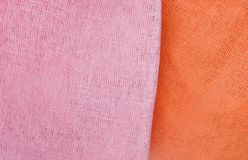 Close Up Orange and Pink Textile Texture Stock Image