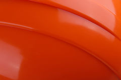Close-up orange safety helmet hard hat, tool protect worker. Of danger in construction industry Stock Images