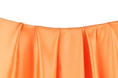 Close up of orange silk curves. Royalty Free Stock Image