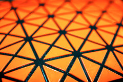 Close up orange square scene Stock Photography
