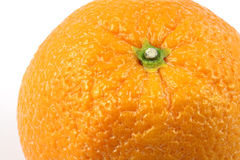 Close up orange. Top side close up orange on white background Stock Photos