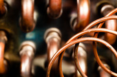 Close up of orange wires Royalty Free Stock Photography
