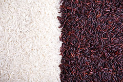 Close up organic black and white rice background, texture Stock Photo