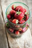 Close up Organic Strawberry Top view Stock Images