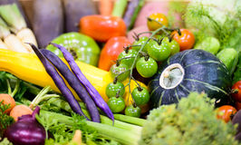 Close Up of Organic Vegetables at a Market Stock Images