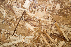 Close up Oriented Strand Board for background textures Stock Photography