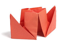 Close up origami ship Royalty Free Stock Photo