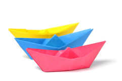 Close up origami ship Royalty Free Stock Images