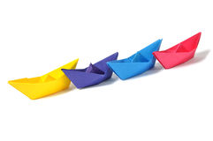 Close up origami ship Royalty Free Stock Photography