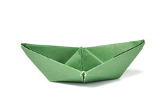 Close up origami ship Stock Photography