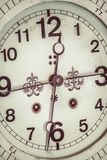 Close up of a ornamental antique clock Royalty Free Stock Photos