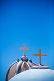 Close up from Orthodox Crosses Stock Photos