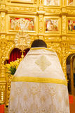Close up of orthodoxal priest  in church Royalty Free Stock Images