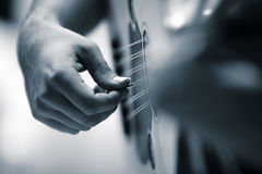 Close up Oud. Turkish music instrument oud and player Royalty Free Stock Photography