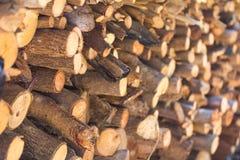 Close-up oude houten brandstapel stock foto's