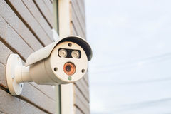 Close up outdoor CCTV for security Stock Image