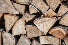 Close up outdoor photo of firewood Royalty Free Stock Photography