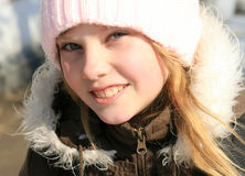 Close-up outdoor portrait  beauty young Royalty Free Stock Photography