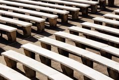 Close-up of Outdoor Stadium Marble Benches Stock Images