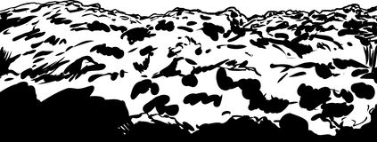 Close up outline illustration of soil Royalty Free Stock Images