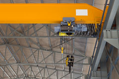 Close up of an overhead crane Royalty Free Stock Photos