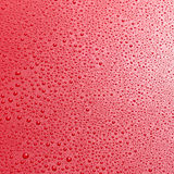Close up overhead view of shiny red surface Royalty Free Stock Image
