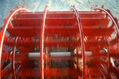 Close up of paddle wheel on Delta Queen Steamboat stock photography