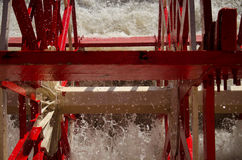Close up paddle wheel of the Natchez Steamboat. Natchez has been the name of several steamboats, and four naval vessels, each named after the city of Natchez Royalty Free Stock Images