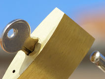 Close-up of padlock royalty free stock photo
