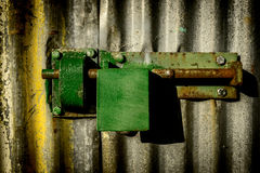 Close-up padlock. On door Royalty Free Stock Image