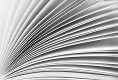 Close up of pages in a book for background pattern Royalty Free Stock Photo