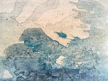 Close-up paint on canvas. Close-up macro shot of white and dark blue paint on canvas. Fragment of picture Stock Images