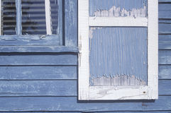 Close-up of paint peeled windows, WI Royalty Free Stock Photo