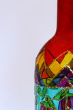 painted bottle. A close-up of a handpainted bottle Stock Photos
