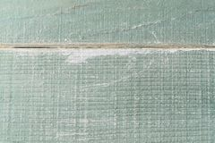 Painted Turquoise Wood Planking Background Texture. Close up of painted wooden turquoise planking. Aged and weathered grungy background texture Stock Photos