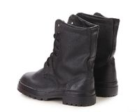 Close up of pair boots. Royalty Free Stock Photos