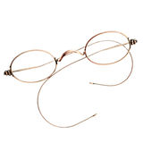 Close-up of a pair of eyeglasses with round frame Stock Photos