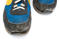 Close up pair of old shoes Royalty Free Stock Images