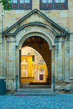 Close up of Palace of the Kings of Navarre at Olite Royalty Free Stock Photo