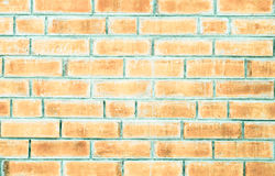 Close up pale orange brick wall texture background Stock Photography