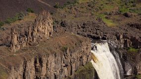 Close-up of the Palouse Falls stock video