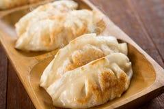 Close up pan fried dumplings Stock Images