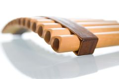 Close up pan pipe Stock Image