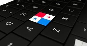 Close up of Panama button. Stock Image