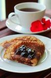 Close-up Pancake  with marmalade Royalty Free Stock Image
