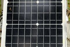 Close up a panel of solar cell for a green eco renewable energy royalty free stock photo