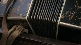 Old rare Accordion in poor condition. stock video