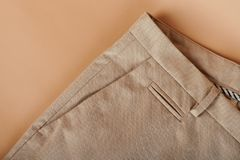 Close up of pants pocket stock photography